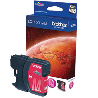 Genuine Brother LC1100 High Capacity Magenta Ink Cartridge (LC-1100MHOEM)