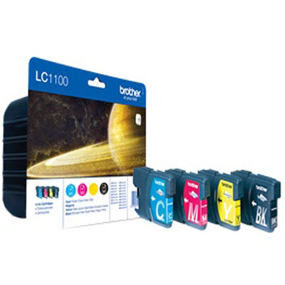 Genuine Brother LC1100 BK/C/M/Y Multipack Ink Cartridges (LC-1100VALBPOEM)