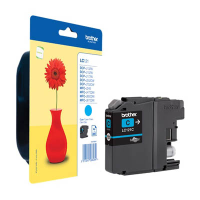 Genuine Brother LC121C Cyan Ink Cartridge (LC-121COEM)