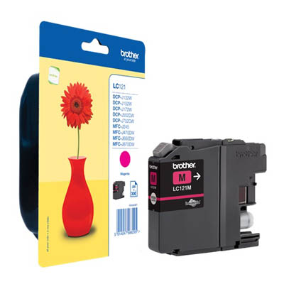 Genuine Brother LC121M Magenta Ink Cartridge (LC-121MOEM)