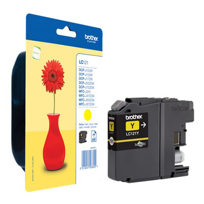 Genuine Brother LC121Y Yellow Ink Cartridge (LC-121YOEM)