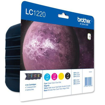 Genuine Brother LC1220VAL PACK (BK/C/M/Y) Ink Cartridge (LC-1220VALOEM)