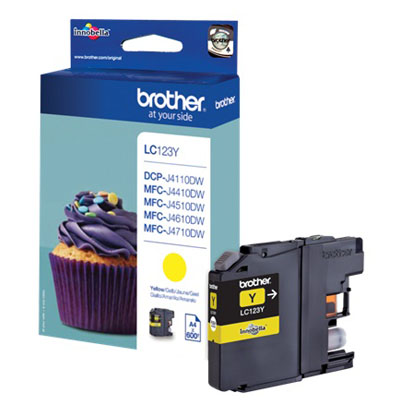Genuine Brother LC123Y Yellow Ink Cartridge (LC-123YOEM)