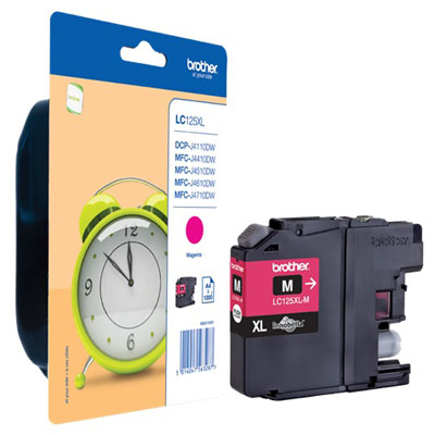 Genuine Brother LC125XLM High Yield Magenta Ink Cartridge (LC-125XLMOEM)