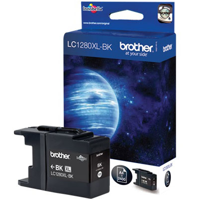 Genuine Brother LC1280XLBK Hig Yeild Black  Ink Cartridge (LC-1280XLBKOEM)