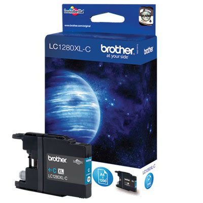 Genuine Brother LC1280XLC High Yeild Cyan  Ink Cartridge (LC-1280XLCOEM)