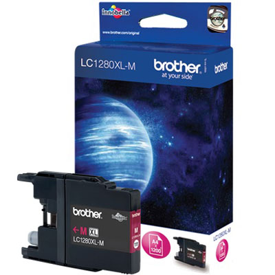 Genuine Brother LC1280XL High Yeild Magenta  Ink Cartridge (LC-1280XLMOEM)
