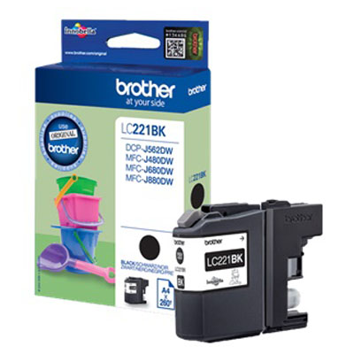 Genuine Brother LC221 Black Ink Cartridge (LC-221BKOEM)