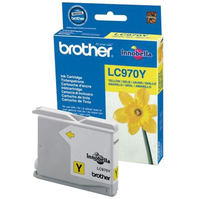 Genuine Brother LC970 Yellow Ink Cartridge (LC-970YOEM)
