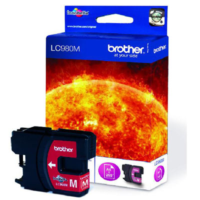 Genuine Brother LC980 Magenta Ink Cartridge (LC-980MOEM)