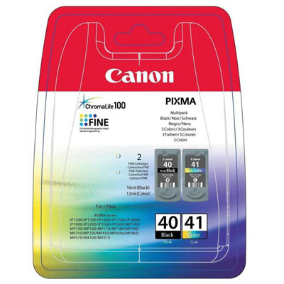Genuine Canon PG-40 Black CL41 CLR Multi Pack Ink Cartridge (PG40BKCL41CLRMULTIOEM)