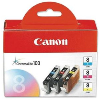 Genuine Canon CLI-8 C/M/Y Multi Pack Ink Cartridge (CLI8CMYMULTIOEM)