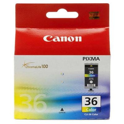 Genuine Canon CLI-36 Chromolife Colour Ink Tank (CLI36CLROEM)
