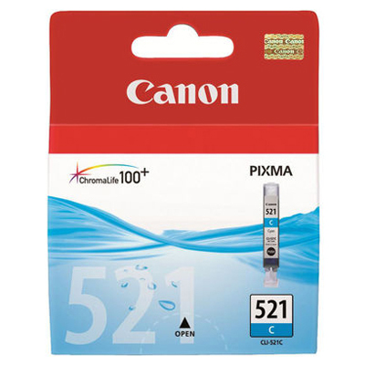 Genuine Canon CLI-521 Cyan Ink Cartridge (CLI521COEM)