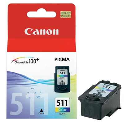 Genuine Canon CL-511 Colour Ink Cartridge (CL511CLROEM)