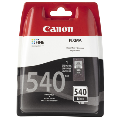 Genuine Canon PG-540 Black High Capacity Ink Cartridge (PG540XLBKOEM)
