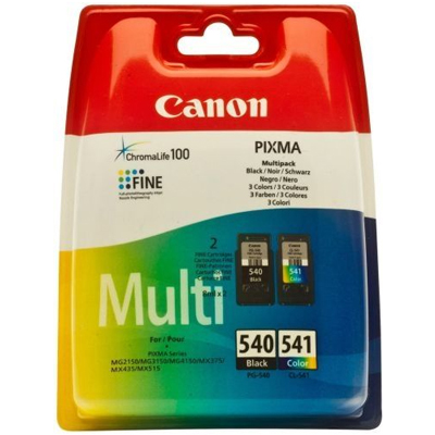 Genuine Canon PG-540XL Black CL-541XL CLR Multi Pack High Capacity Ink Cartridge (PG540XLBKCL541XLCLRMULTIOEM)