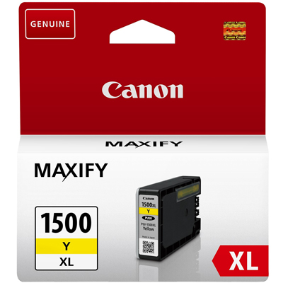 Genuine Canon PGI-1500XL Yellow ink Cartridge (PGi1500XLYOEM)
