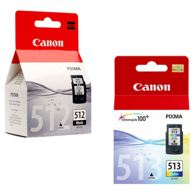 Genuine Canon PGI-512 Black CL-513 Colour Ink Cartridge (PG512BKCLI513CLROEM)