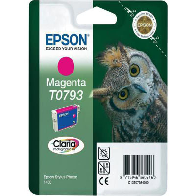 Genuine Epson C13T07934010 Magenta Ink Cartridge (T0793MOEM)