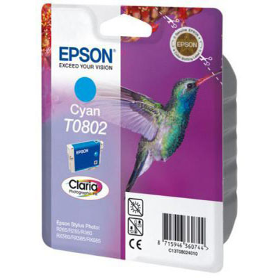 Genuine Epson C13T08024011 Cyan Ink Cartridge (T0792COEM)