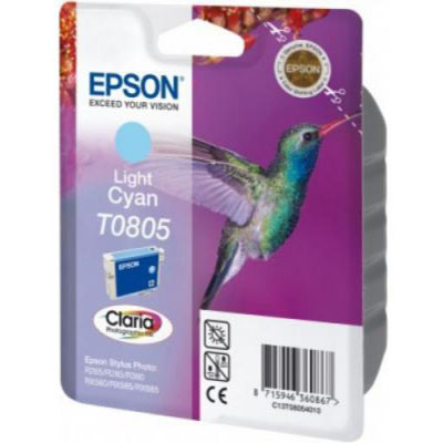 Genuine Epson C13T08054011 Light Cyan Ink Cartridge (T0792COEM)