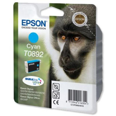 Genuine Epson C13T08924011 Cyan Ink Cartridge (T0892COEM)