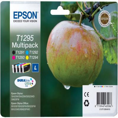 Genuine Epson C13T12954012 BK/C/M/Y Multi Pack Ink Cartridge (T1295BKCMYOEM)