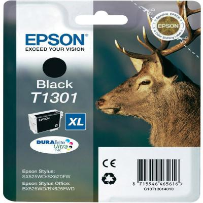 Genuine Epson C13T13014012 Black Ink Cartridge (T1301BKOEM)