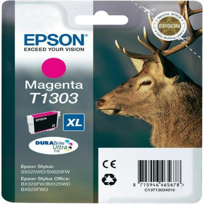 Genuine Epson C13T13034012 Magenta Ink Cartridge (T1303MOEM)