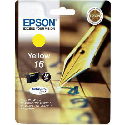 Genuine Epson C13T16244012 Yellow Ink Cartridge (T1624YOEM)
