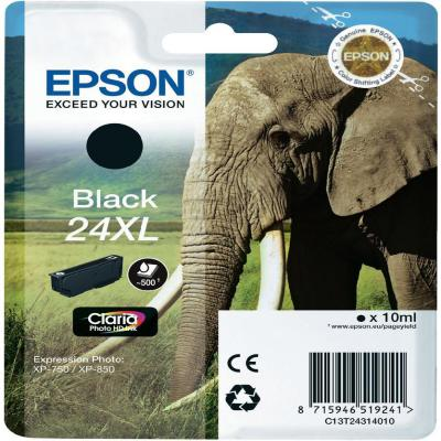 Genuine Epson C13T24314012 (#24H) Black High Capacity Ink Cartridge (T2431XLBKOEM)