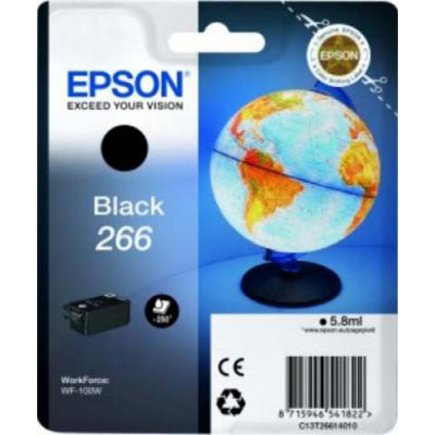 Genuine Epson C13T26614010 Black Ink Cartridge (T266BKOEM)
