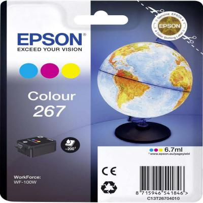 Genuine Epson C13T26704010 Tri-Colour Ink Cartridge (T267CLROEM)