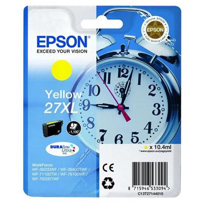 Genuine Epson C13T27144010 (27XL) Yellow High Capacity Ink Cartridge (T27XLYOEM)