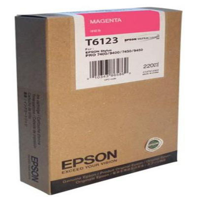 Genuine Epson C13T612300 Magenta High Capacity Ink Cartridge (T6123MHOEM)