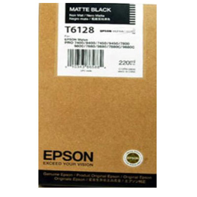 Genuine Epson C13T612800 Matte Black High Capacity Ink Cartridge (T6128MBKOEM)