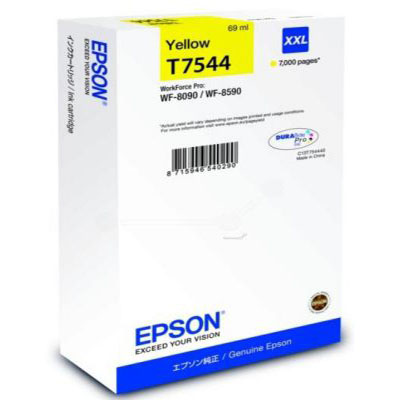 Genuine Epson C13T754440 Yellow Extra High Capacity Ink Cartridge (T7544YHOEM)