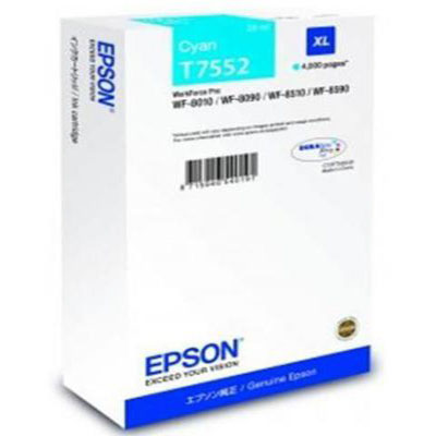 Genuine Epson C13T755240 Cyan High Capacity Ink Cartridge (T7552CHOEM)