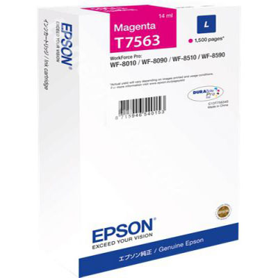 Genuine Epson C13T756340 Magenta Ink Cartridge (T7563MOEM)
