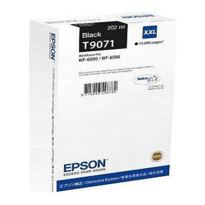 Genuine Epson C13T907140 Black Extra High Capacity Ink Cartridge (T9071BKHOEM)