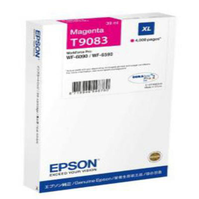 Genuine Epson C13T908340 Magenta High Capacity Ink Cartridge (T9083MHOEM)