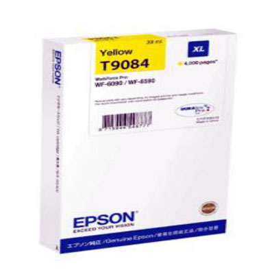 Genuine Epson C13T908440 Yellow High Capacity Ink Cartridge (T9084YHOEM)