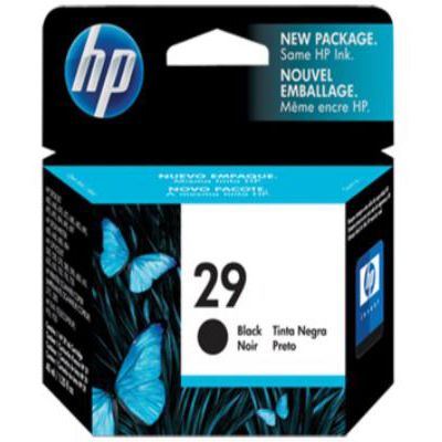 Genuine HP 51629A (#29) Black ink Cartridge (HP29BKOEM)