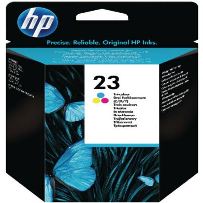 Genuine HP C1823DE (#23) Tri-Colour Ink Cartridge (HP23CLROEM)