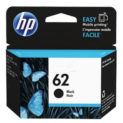 Genuine HP C2P04AE (#62) Black Ink Cartridge (HP62BKOEM)