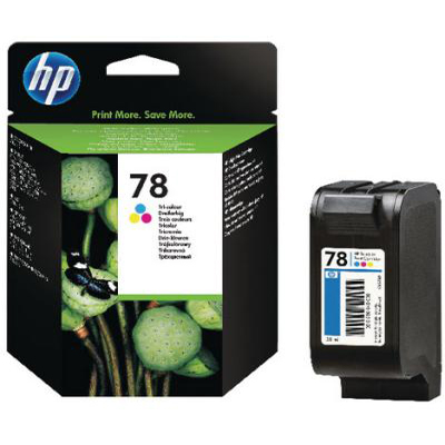Genuine HP C6578DE (#78) Tri-Colour Ink Cartridge (HP78CLROEM)