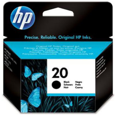 Genuine HP C6614DE (#20) Black Ink Cartridge (HP20BKOEM)