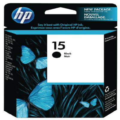 Genuine HP C6615DE (#15H) Black High Capacity Ink Cartridge (HP15BKHOEM)