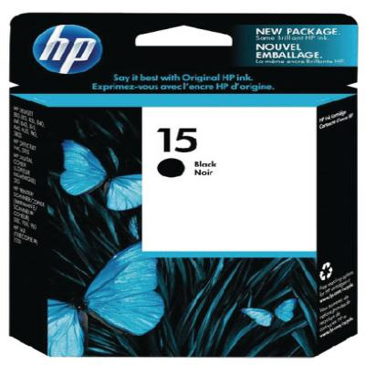 Genuine HP C6615NE (#15) Black Ink Cartridge (HP15BKOEM)